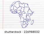 illustration with map of the... | Shutterstock . vector #226988032