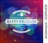 christmas greeting card light... | Shutterstock .eps vector #226991656