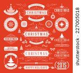 christmas decoration vector... | Shutterstock .eps vector #227005018