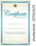 certificate template | Shutterstock .eps vector #227013172