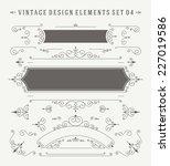 vintage vector ornaments... | Shutterstock .eps vector #227019586