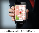 smart phone navigation   mobile ... | Shutterstock . vector #227031655