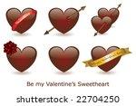 vector valentine's hearts | Shutterstock .eps vector #22704250