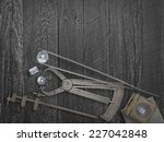 faded colors vintage jewelers... | Shutterstock . vector #227042848
