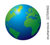 3d view of the earth in... | Shutterstock . vector #22705402
