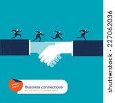 businessmen running on a...   Shutterstock .eps vector #227062036