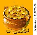 pot of gold | Shutterstock .eps vector #227073868