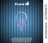 headphones icon   vector map...   Shutterstock .eps vector #227083672