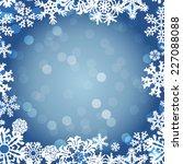 snowflakes winter seamless... | Shutterstock .eps vector #227088088