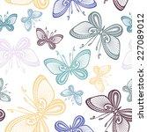 seamless ornate floral pattern... | Shutterstock .eps vector #227089012