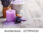 aromatherapy concept  candle... | Shutterstock . vector #227094232