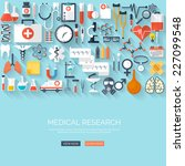 medical flat vector background... | Shutterstock .eps vector #227099548