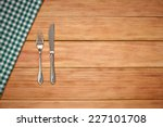 Fork  Knife And Table Cloth On...