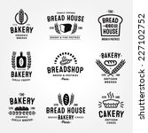large set of bakery and bread... | Shutterstock .eps vector #227102752