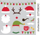 christmas photo booth and... | Shutterstock .eps vector #227108242