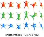 people acrobats | Shutterstock .eps vector #22711702