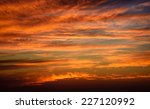 fiery sky after sunset over the ... | Shutterstock . vector #227120992