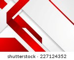 bright tech corporate red and... | Shutterstock .eps vector #227124352