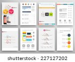set of flyer  brochure design... | Shutterstock .eps vector #227127202