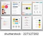 set of flyer  brochure design... | Shutterstock .eps vector #227127202