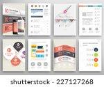 set of flyer  brochure design... | Shutterstock .eps vector #227127268