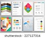 set of flyer  brochure design... | Shutterstock .eps vector #227127316