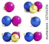 christmas balls   Shutterstock . vector #227141356