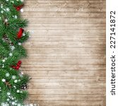christmas fir tree with a... | Shutterstock . vector #227141872