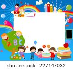 Vector Illustration Of School...