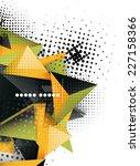 geometric triangle 3d design ... | Shutterstock .eps vector #227158366
