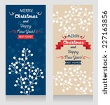 set of two cute christmas cards ... | Shutterstock .eps vector #227163856