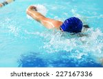 professional male swimmer... | Shutterstock . vector #227167336