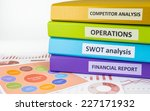 colorful document binders  swot ... | Shutterstock . vector #227171932