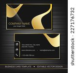 business card template with... | Shutterstock .eps vector #227176732