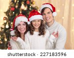 happy family on christmas | Shutterstock . vector #227183596
