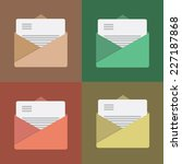 four colorful icons with letter ...   Shutterstock .eps vector #227187868
