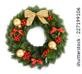 christmas decorative wreath... | Shutterstock . vector #227199106