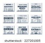 Vector Newspapers. Eps10....
