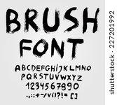 hand drawn brush font alphabet. ...   Shutterstock .eps vector #227201992