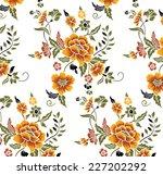 Orange Flower Pattern Drawn By...