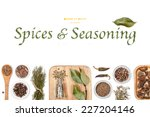 spices and seasoning on white... | Shutterstock . vector #227204146