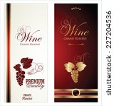 wine labels | Shutterstock .eps vector #227204536