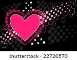 valentine hearts in rosy pink... | Shutterstock .eps vector #22720570