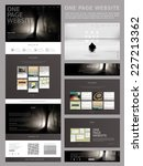 modern style one page website...