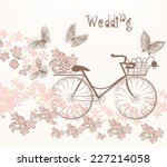 cute vector invitation with...   Shutterstock .eps vector #227214058