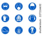 safety at work signs | Shutterstock .eps vector #227216632