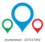 map pointer | Shutterstock .eps vector #227217352