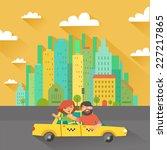 urban landscape in flat design. ...   Shutterstock .eps vector #227217865