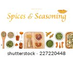 spices and seasoning on white... | Shutterstock . vector #227220448