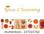 spices and seasoning on white... | Shutterstock . vector #227221762